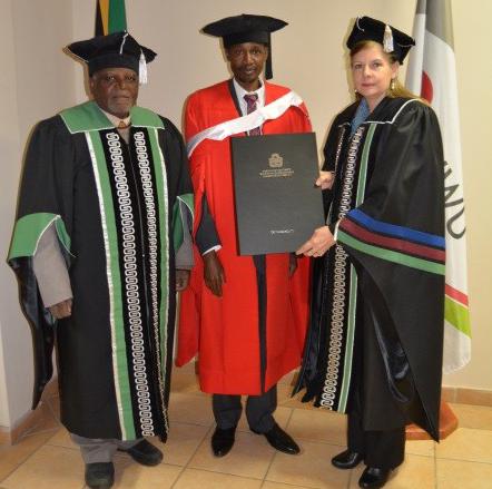 Thadeus celebrates a PhD and improving health | News | NWU